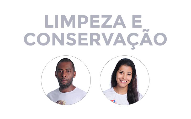Colaboradores do setor de limpeza e conservação CCAA Divinópolis