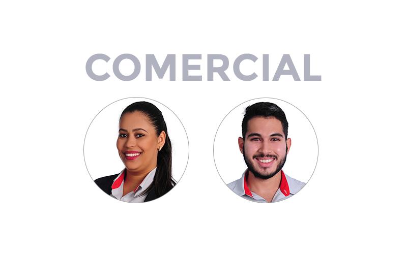 Equipe Comercial CCAA Divinopolis Crisangela Souza (Consultora de Vendas) e Italo Santos (Consultor de Vendas)